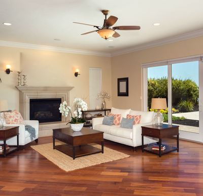 Cool a large room with a ceiling fan.