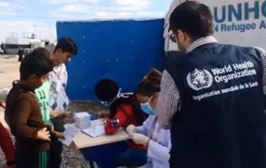WHO initiates campaign to vaccinate 250,000 people against cholera in Iraq.