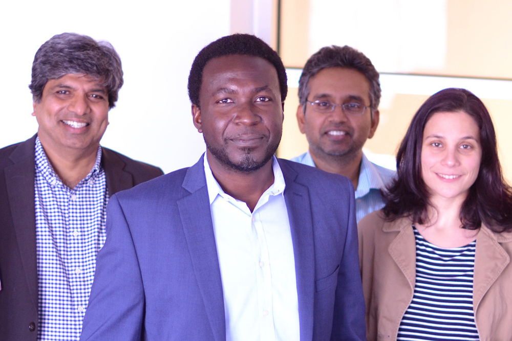 From left, Placid Ferreira, Kimani Toussaint, Narayana Aluru and Elif Ertekin.