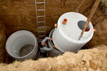 Septic systems are common in rural areas and some city areas.
