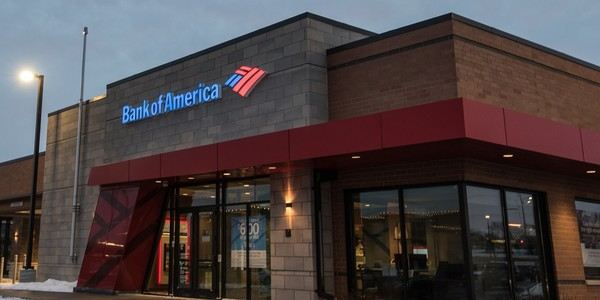 Large bank of america branch