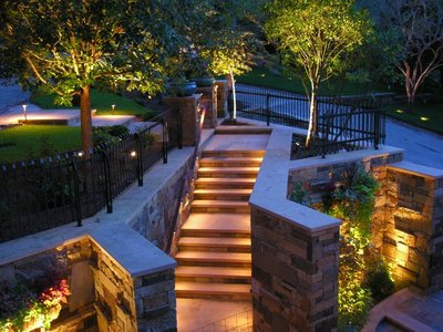 Landscape lighting can enhance feelings of safety and security for homeowners.