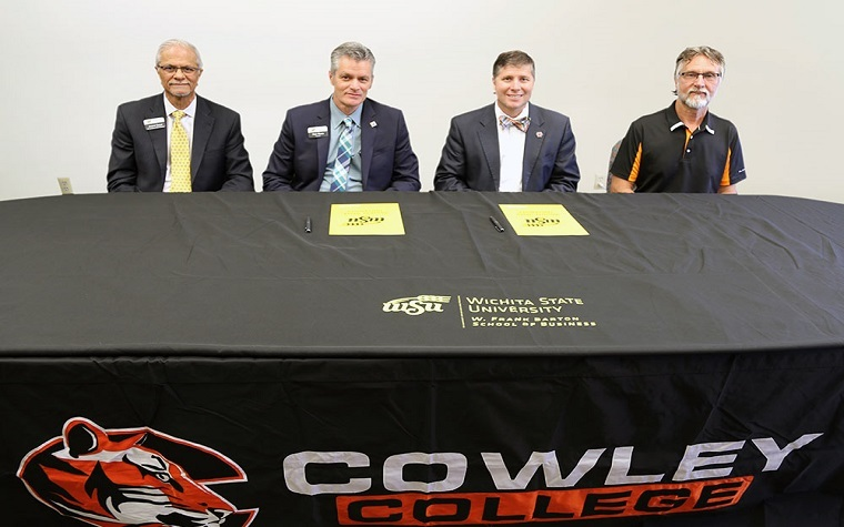 Pictured, from left, Anand Desai, Rick Muma, Dr. Dennis C. Rittle, and Dr. Harold Arnett.