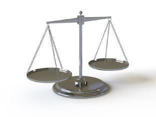 Justice pendulum logo