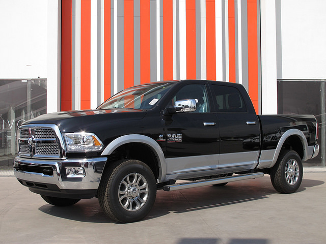 The Ram 2500 can seat up to five passengers, and the exterior has four doors for accessibility.