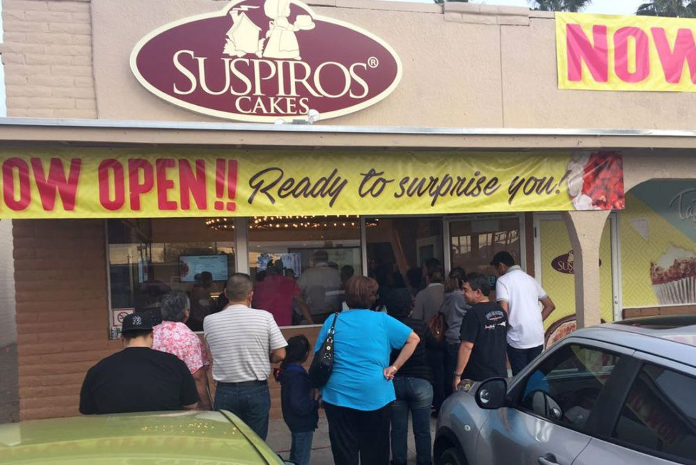 A grand opening celebration will be held Friday at Suspiros in Tucson.