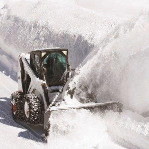 Medium deerfield snow plowing