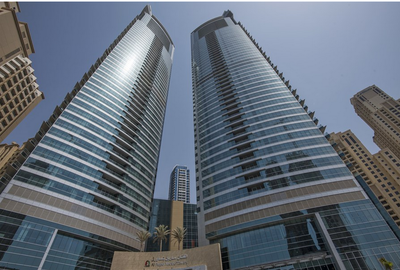 The Al Fattan Marine Towers complex offers partial ocean views.