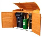 Picking up one of these shed-type structures is a great way to hide your garbage cans this spring