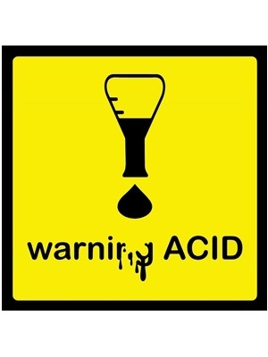 Large acid warning