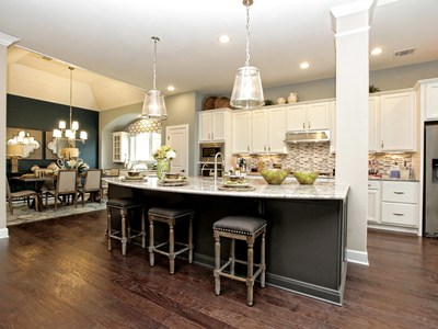 David Weekley Homes features stunning open kitchen designs in its offerings.