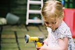 If parents enjoy gardening, there's no reason the younger ones can't learn to help out.