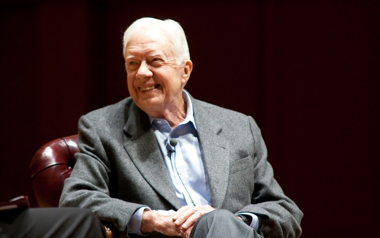 Boise State University Honors College Dean Andrew Finstuen interviewed former president Jimmy Carter for the project.