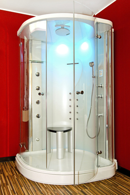 LED lighting can save money and freshen up a bathroom.