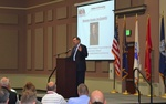 Sen. Donnelly addresses National Defense Industrial Association in Indiana.