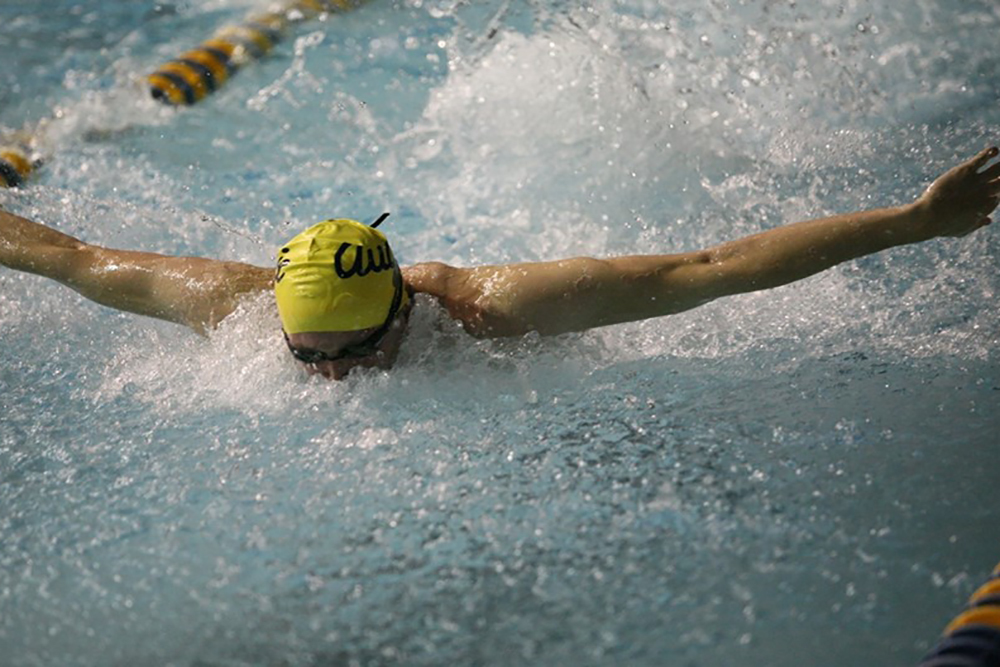Jared Ekberg was named CCIW swimmer of the week for the third time in his collegiate career.