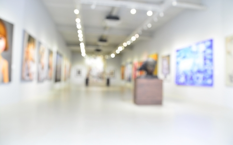The St. Claude Gallery was established to showcase the work produced by the university's M.F.A. students.