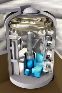An artist's rendering of BWXT's mPower small modular reactor.