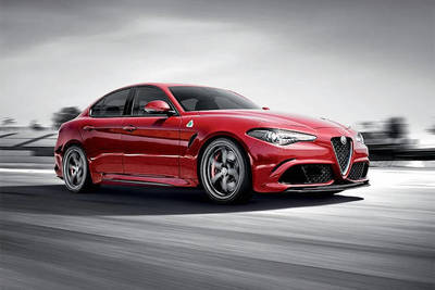 Alfa Romeo Guilia's sporty look matches its athletic capabilities.