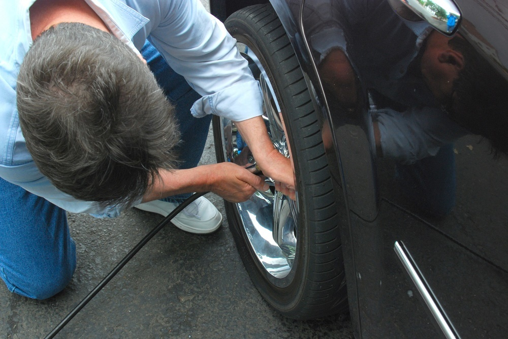 Before a road trip have a service pro inspect the tires.