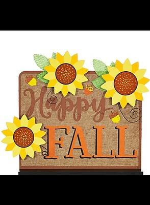 Burlap Happy Fall Decoration