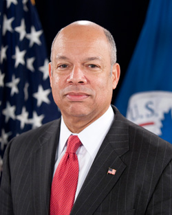 Secretary of the Department of Homeland Security, Jeh Johnson.