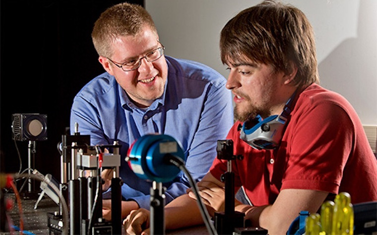Paul Leisher (left) was chosen by NASA to develop new optical data technologies.