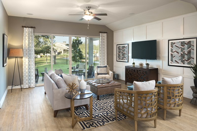 The family room of the Rockwood Plan.