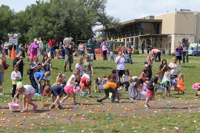 Children have fun at the 2014 Easter Egg Hunt hosted by Austin Oaks Church.