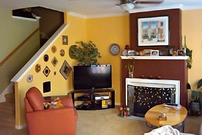 Adding a bit of color to the interior makes a home more unique.