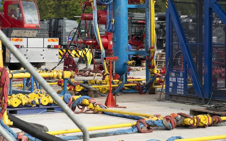 A hydraulic fracturing operation