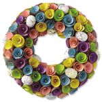 Wooden Easter Egg Wreath