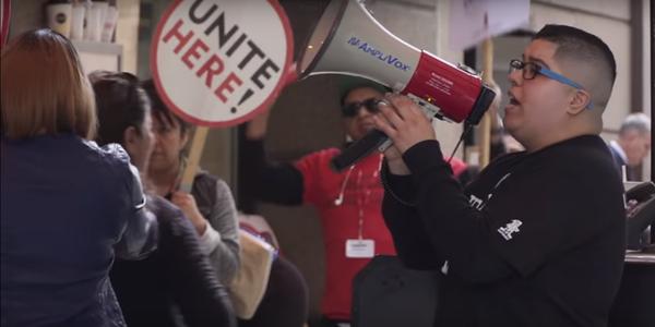Large hotel strike unitehere