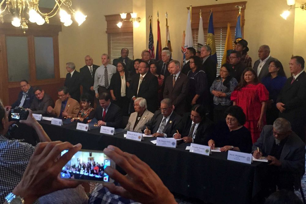Ducey, tribal leaders affirm native gaming agreement amendments