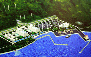A rendering of a proposed nuclear plant in Vietnam.