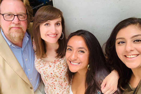 Sarah Chambers, second from left, with fellow Chicago-area educators Richard Berg to her right and Valeria Vargas and Fabiana Casas