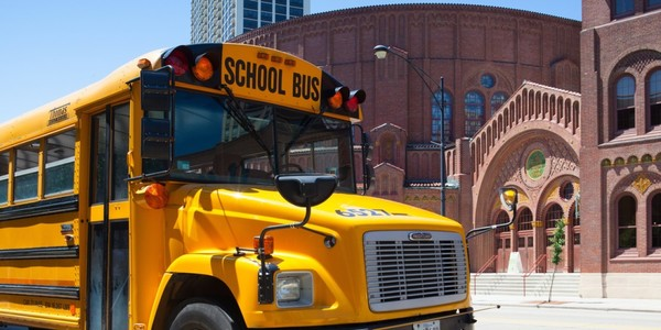 Large chicago school bus shutterstock