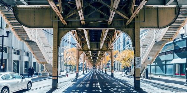 Large chicago under el tracks