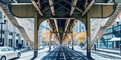 Medium chicago under el tracks