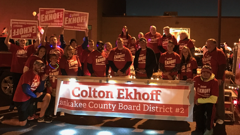 Colton Ekhoff, Kankakee County Board candidate and supporters