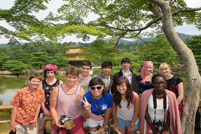 High school students during their CIEE Global Navigator summer abroad Japanese Language & Culture program