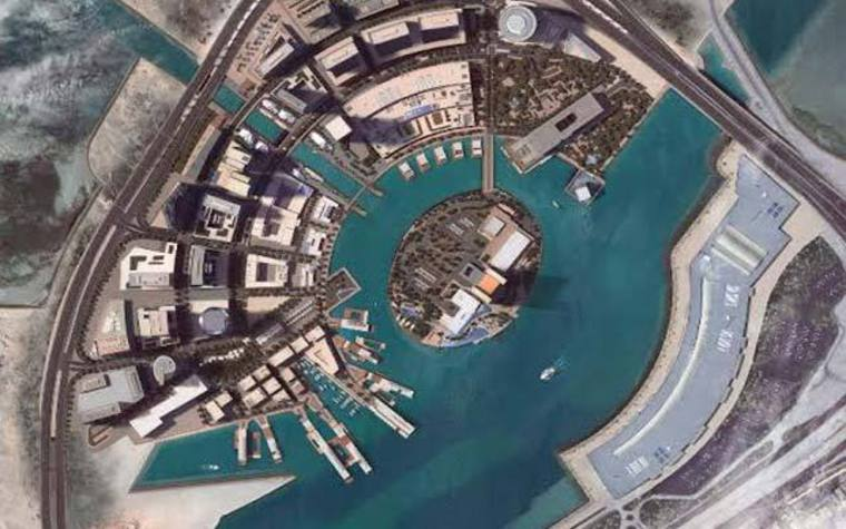 Bahrain Bay, as viewed from above.
