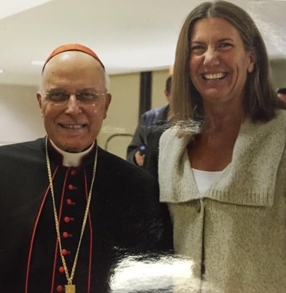 (Left) The late Cardinal Francis George, a a leader in the pro-life movement with (right) State Rep. Fran Hurley (D-Chicago).