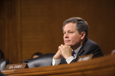Montana Sen. Steve Daines at committee meeting in 2015. The Republican senator has raised $6.6 million for his reelection bid.