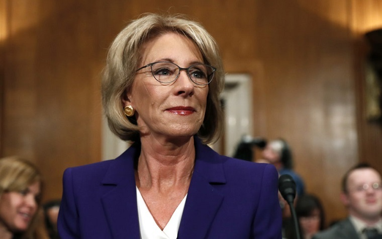 Two Republican senators voted against Betsy DeVos' confirmation.