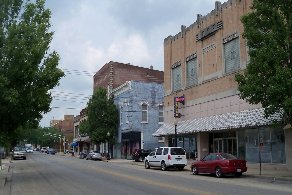 Downtown Centralia, a city in which residents are projected to experience a $3,692,021 tax increase this year.