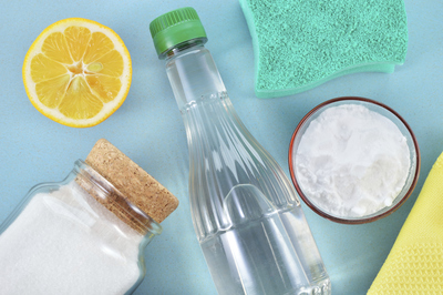 Natural ingredients like vinegar and baking soda can help you clean and be eco-friendly.