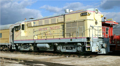 A Union Pacific Railroad Locomotive