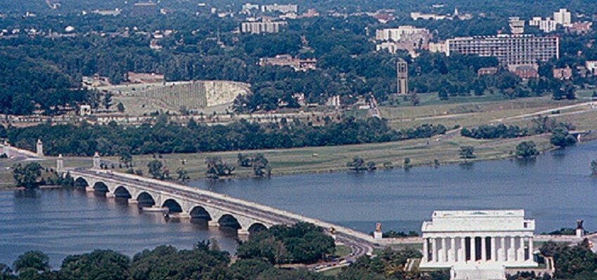 The Arlington Bridge, pictures leading to the Jefferson Memorial, is in need of repair
