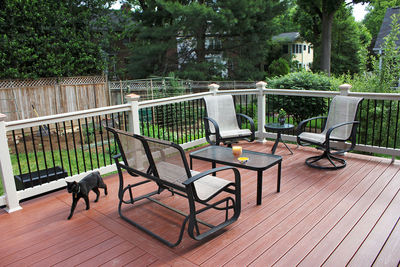 A deck provides outdoor living opportunities and storage space, if designed right.